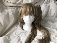 80cm Long Light Brown Straight Love Live Kotori Cosplay Wig Bangs Free Shipping
