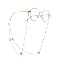 Pearl Eye Glasses Sunglasses Spectacles Eyewear Chain Cord Lanyard Holder Strap