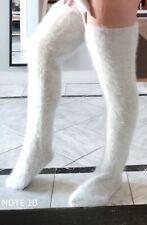 90% Fuzzy & Fluffy Angora Thigh High Stockings with feet