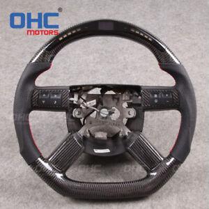 Real Carbon Fiber LED Steering Wheel for Dodge Charger Challenger Chrysler 300