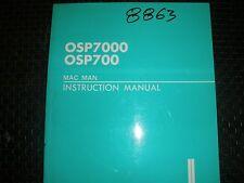 Okuma Cnc Osp7000 & Osp700 Control Mac Man Instruction Manual