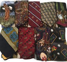 Vintage Necktie Lot 70's Retro Stripe Animals Paisley Lot of 9 Designer Work
