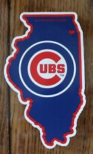 Collector Chicago Cubs State Lic MLB Die Cut Window Decal  Baseball Car Sticker