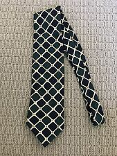 PIERRE CARDIN Green & Navy Patterrned Tie
