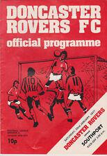 Programma / Programme Doncaster Rovers v Southport 22-01-1977