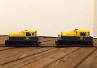 Two Switcher ATSF #332 diesel locomotives HO gauge