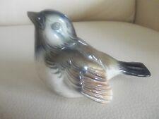 Goebel W. Germany Porcelain Blue Headed SPARROW, CV 72, Mint, Beautiful!