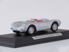 Scale model car 1:43 Porsche Spyder 550, 1953 (silver)