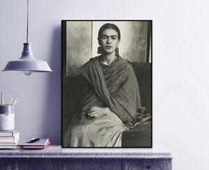 Young Frida - Frida Kahlo Vintage Photograph Print / Black & White / Wall Decor