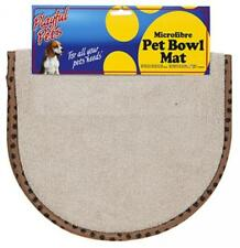 Dog or Cat Pet Bowl Microfibre Mat Tray Prevent Mess Drips Washable Non Slip