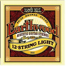 ERNIE Ball Earthwood 12 String LIGHT 80/20 Bronze ACUSTICA CHITARRA corde 9-46