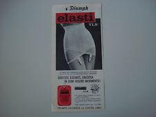 advertising Pubblicità 1962 GUAINA TRIUMPH ELASTI VLN