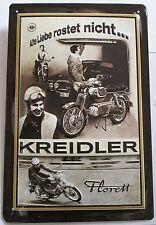 Kreidler florett, chapa escudo, vieja amor no se oxida