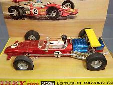 Dinky Toys Modelo No.225 coche de carreras de Lotus Fi VN MIB