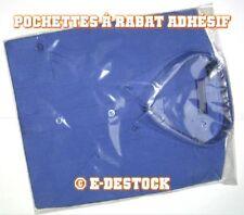 25 Pochettes Sachets plastique rabat adhesif 220x280 mm - polypropylène 40micron