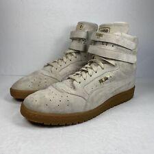 PUMA Women Contact Sky II Hi Suede Tan High Top Sneakers Shoes Size 9.5