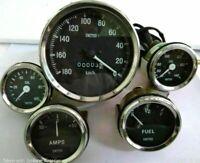 Smiths Replica 52mm Kit- Temp + Oil + Fuel + Amp Gauge+ Speedometer 100mm