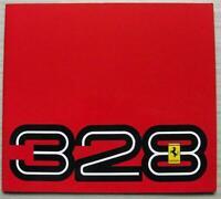 FERRARI 328 GTB & GTS Large Format Sales Brochure 1989 #394/89 5M/01/89