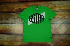 G-STAR RAW _ PREMIUM MEN'S T-SHIRT GREEN BRUCE SUMMER HOLIDAY _ L