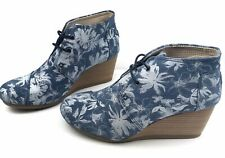 TOMS Floral Print Pattern Wedge Shoes 8.5 - Great Condition And Clean