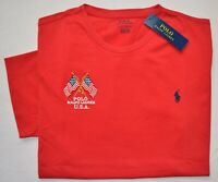 New Large L Polo Ralph Lauren Mens American US Flag T-shirt Tee red custom fit