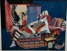 Outsider art, series women in Matisse like collages V Sadin, Tropics with Drink