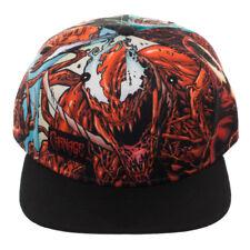MARVEL COMICS CARNAGE SUBLIMATED CROWN BLACK BILL SNAPBACK HAT CAP ADJUSTABLE