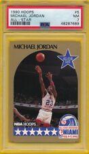 Michael Jordan All-Star 1990 Hoops Basketball Card #5 Graded PSA 7