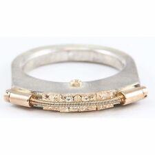 Tension Princess Stone Ring Band Tomasz Plodowski Sterling Silver 14K Gold 585