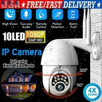 USA 1080P HD IP CCTV Camera Waterproof Outdoor WiFi Security Wireless IR Cam