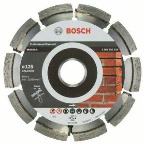 BOSCH Grooving Machine Diamond Ø 125 Milling Masonry Mortar Clinker Bricks Disc