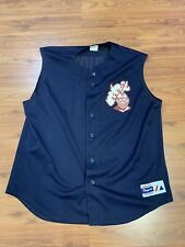 RUTGERS BASEBALL GAME WORN CAPRIOTTI #8 BATTING PRACTICE JERSEY MADE IN USA VTG