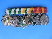 Alte Spange Ordenspange mit 8 Schützenorden von 1929 bis 1954