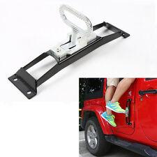 Black Door Hinges Foot Rest Pedal Peg No Drilling For 2007-2017 Jeep Wrangler JK