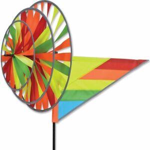 Premier Kites Triple Spinner REFLECTIVE NEON Yard Spinner (22174)