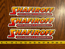 Lot of 3 Shafiroff Race Engines And Components Decals Stickers