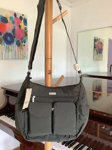 NWT $85 baggallini Everyplace Satchel Bag shoulder crossbody charcoal