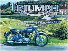 New 15x20cm Triumph Thunderbird motorbike small metal advertising wall sign