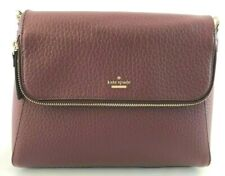 New Authentic Kate Spade WKRU5988 Leather Crossbody Handbag Purse Cherrywood