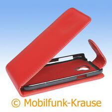 Flip Case Etui Handytasche Tasche Hülle f. Samsung Galaxy S 4 Mini (Rot)