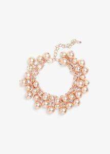 PHASE EIGHT Rose Gold BETTY Beaded Bracelet BNWT Rrp £25