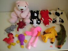 Lot of 10 Ty Beanie Babies Assorted Beanbag Plush Animals + 2 other plush