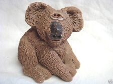Funny Smiling Koala Figure / Sculpture Signed Jj