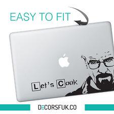 Heisenberg Macbook Stickers on black vinyl | Laptop stickers | Breaking Bad