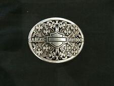 HARLEY-DAVIDSON® WOMEN'S FLOWERS WITH CRYSTAL BELT BUCKLE 97694-11VW
