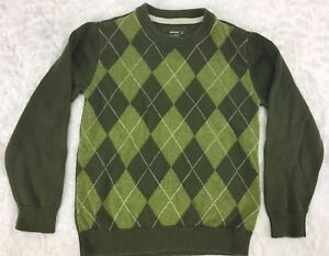 Old Navy Boys Argile Olive Green Sweater Size Small (A15)