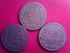 COLOMBIA    50  PESOS    1990  1991  1994      FEB26