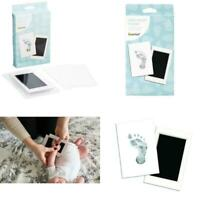 """Pearhead Newborn Baby Handprint Or Footprint """"Clean-Touch"""" Ink Pad, 2 Uses, Blac"""