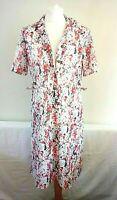 SYMPHONY Size 12 Vintage 1970S ORANGE,WHITE & GREY SHIRT / DAY DRESS