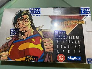 Factory Sealed 1993 Skybox The Return Of Superman Trading Cards Box (36 Packs)